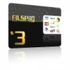 بطاقة فلسبي 3 دولار